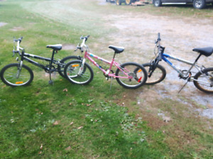 3 kids mountain bikes 20 inch tires
