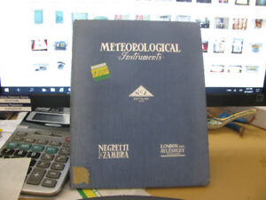 Meteorological Instruments Negretti & Zambra Catalog.