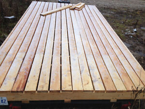 8' by 15' wooden deck utility trailer