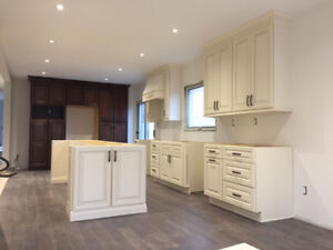 6473257826 Solid wood kitchen cabinets,tiles,FREE estimate