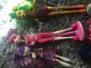 Monster High Dolls.  Barely used.  Selling as a set of 12
