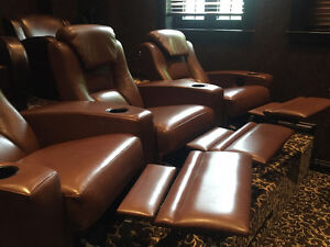 **FOR SALE 3 MOVIE ROOM SEATING, ALL RECLINE WITH CUP HOLDERS**