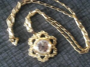 Vendome 17 jewels vintage watch and chain
