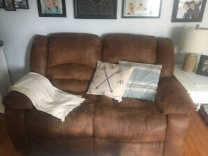 Recliner Couch, Love-seat and Chair Set