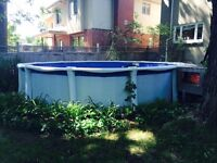 Above ground pool, 18' diameter