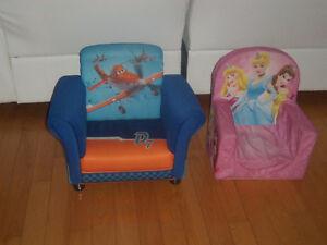 2 divans, fauteuils les avions, princesses