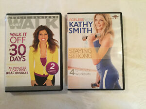 Two never-used exercise DVDs (A197)