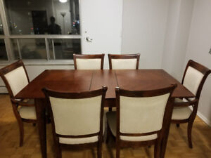 Teak Wood Dining Table 6 Chairs Negotiable