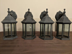 Set of 4 Latern Style Outdoor Lights