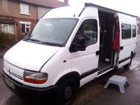 Bargain, Renault Master Camper. Hot water, Shower. Full MOT.