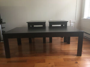 Coffee table and side tables