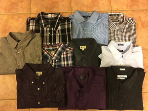 Lots of Big and Tall Men's Clothes