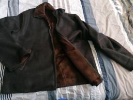 Designer suede/leather brown jacket