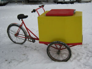 bicyclette a creme glacée triporteur tricycle Ice cream bycicle