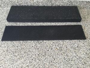 5 tapis de caoutchouc antidérapants pour marches d'escalier