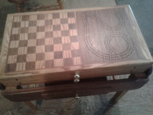 handmade wooden game table