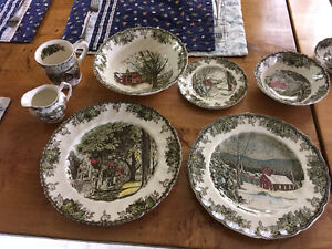 the friendly village set china dinnerware made in england dishes