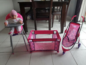 Graco Delux Baby Play Set (3 Piece, plus a baby doll)