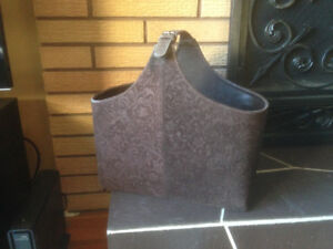 DECORATIVE SUEDE TOTE/CARRY-ALL