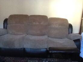 3Seater recliner sofa