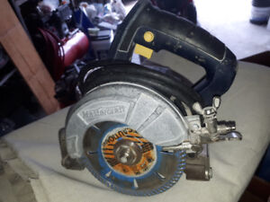 Master craft wet and dry tile saw