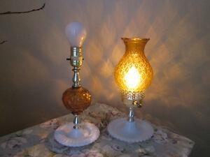 Vintage 2 Lampes ambrées