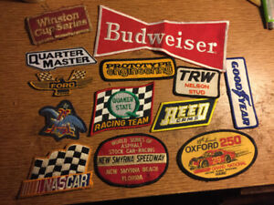 Assorted racing sew on patches