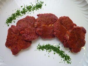 5 St. Wildschwein - steaks, a.d. Wildschweinkeule / Rücken, Wild, ca.600gr 8,98€