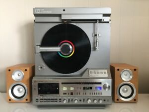 MITSUBISHI LP RECORD AUDIO MUSIC VERTICAL LINEAR TURNTABLE