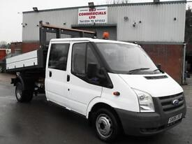 2008 FORD TRANSIT CREW D/CAB ONE STOP DROPSIDE TIPPER, VERY CLEAN, FINANCE, L@@K
