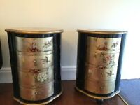 Two decorative side tables