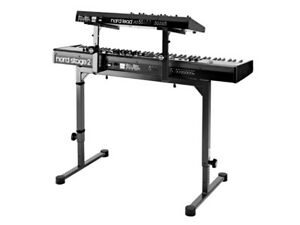 K&M Omega Keyboard Stand with Laptop Stand / Stacker