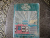 1978 DODGE PLYMOUTH  FACTORY MANUAL