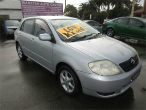 2003 Toyota Corolla ZZE122R Conquest Seca Silver 5 Speed Manual Hatchback Waratah Newcastle Area Preview