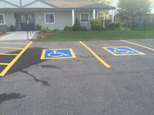 PARKING LOT LINE PAINTING AND PAVEMENT MARKINGS Cambridge Kitchener Area image 1