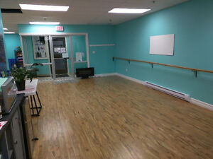 Studio, fitness, or meeting space with mirrors available hourly