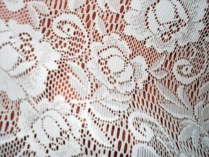 Pair of Lacy white curtains