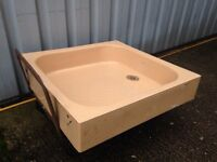 Ceramic shower basin