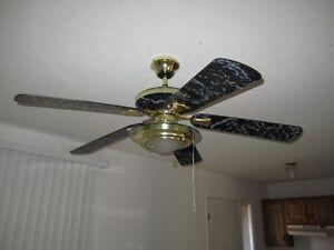 variable  speed ceiling fan w/light  $40.00