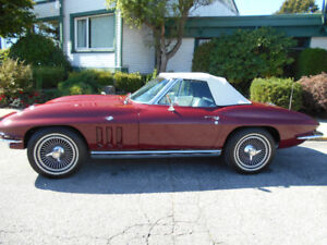 1965 CORVETTE ROADSTER  LAST CALL WILL BE SHIPPED OUT OF BC