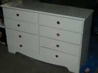 8 DRAWER white dresser
