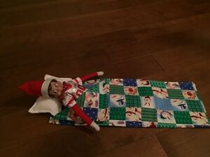 Elf On The Shelf sleeping bag and pillow