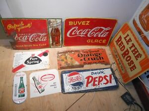 PANCARTES ENSEIGNES 7UP COKE CRUSH PEPSI
