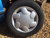 165/70/R13 part worn tyre & rim