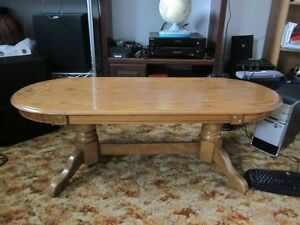 Coffee table, kitchen table and a chair for sale