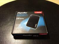 Apollo 250GB portable hard drive
