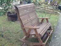 Lovely garden rocking bench