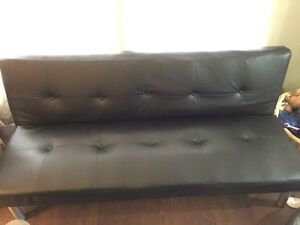 Mainstays Faux Leather Futon