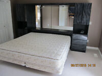 KING size  two sided pillow top mattress, box spring and FRAME