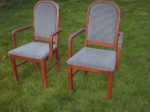 Wooden chairs -sturdy, comfortable and lovely